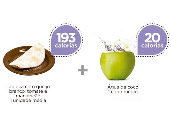 tapioca e água de coco