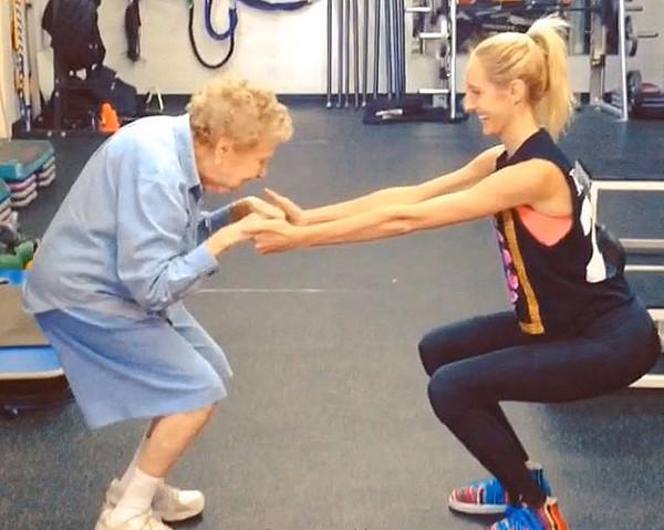 Conheça a senhora de 97 anos que pode estar em melhor forma do que você