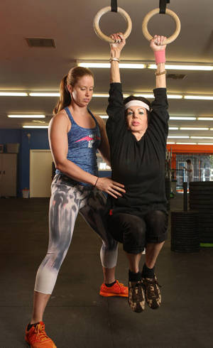 Jackie Stallone crossfit training at 93 years old