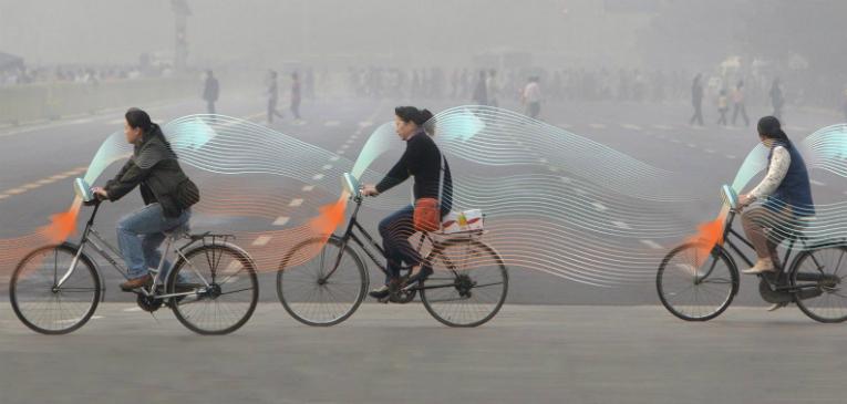 Designer holandês cria bicicleta purificadora de ar