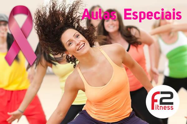 Outubro Rosa tem aulas especiais na F2 Fitness